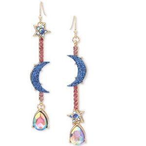 Betsey Johnson Once in a Blue Moon Drop Earrings